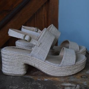 Tan Just Fab Wedges